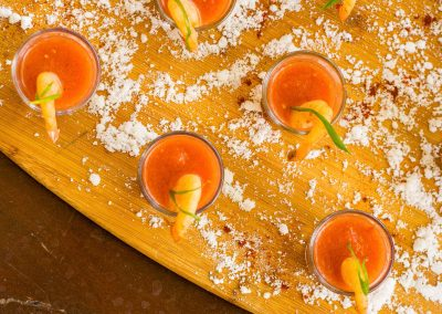 Gazpacho Shrimp Shooters