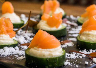 Salmon Gravlax with Crème Fraiche
